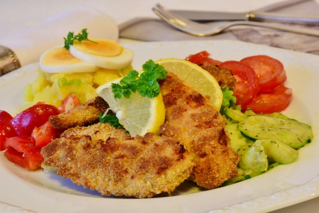 schnitzel, chicken cutlet, chicken