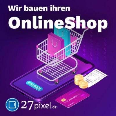 Wir bauen Online-Shop